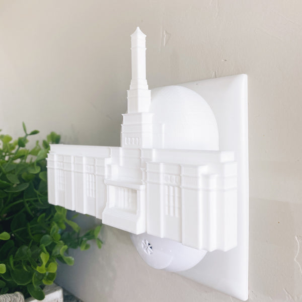 Edmonton Alberta Temple Wall Night Light