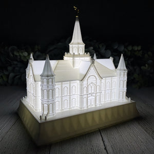 Provo City Center Utah Temple Night Light