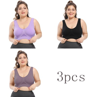 3PCs Queenral Plus Size Women Bra