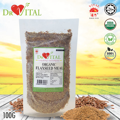 ❤DR VITAL❤ORGANIC FLAXSEED MEAL❤100G ❤ GST ABSORBED! ❤