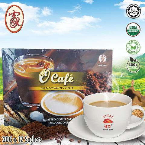 ❤JIA❤ O'(OAT) CAFE INSTANT WHITE COFFEE❤ 12 SACHETS X 30g ❤ GST ABSORBED! ❤