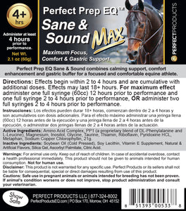 Perfect Prep EQ™ Sane & Sound Max