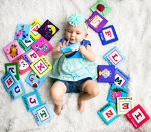 Load image into Gallery viewer, Fabric Alphabet Learning Cards | Baby Education | Safe Soft Spongy 26 Pcs | Perfect Gift | FREE Shipping