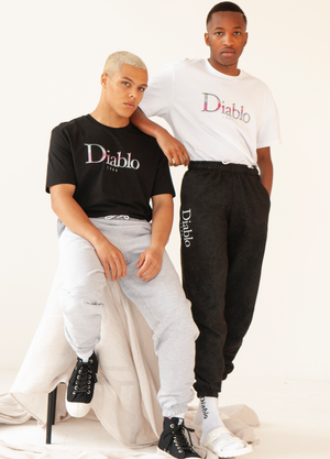 CLASSICA ACID WASH CUFFED SWEAT PANT BLACK