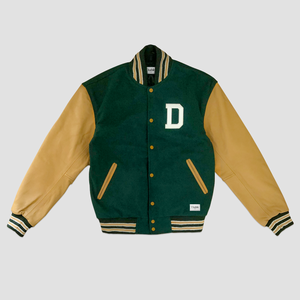 LETTERMAN JACKET GREEN / TAN