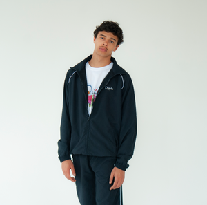 PIPED RACER TRACK JACKET NAVY