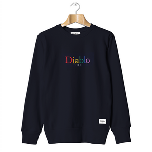 SWEATSHIRT NAVY RAINBOW