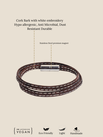 Wrap Mens Bracelet by FOReT Sustainable Fashion