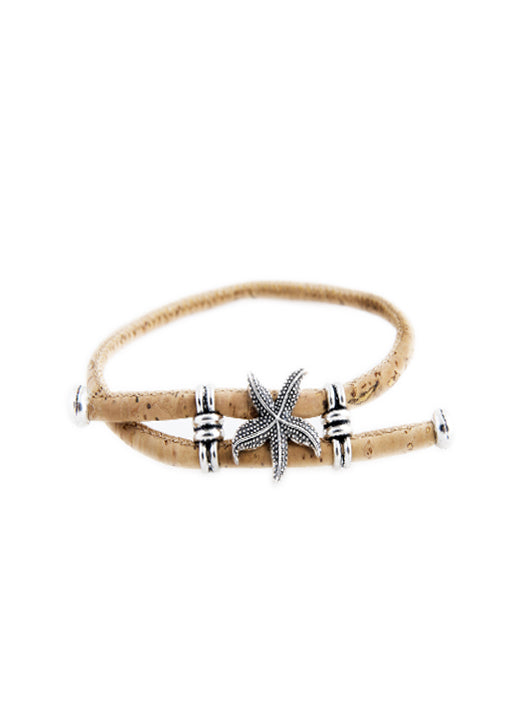 Sea Star Adjustable Cork Bracelet