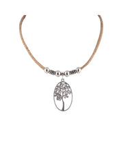 Cork Celtic Tree Necklace
