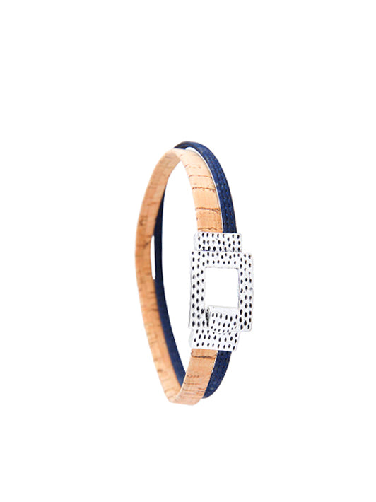 Blue Ripples Cork Bracelet