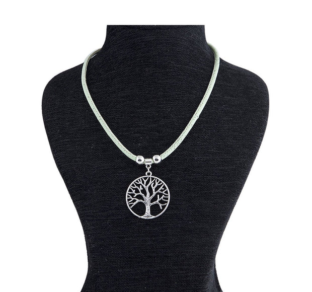 Sustainable Fashion Jewellery made from Cork featuring tree of life