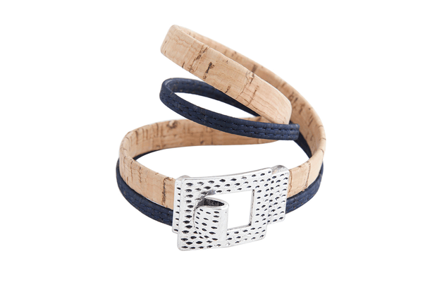 FOReT Cork Bracelet Long and strap on hand