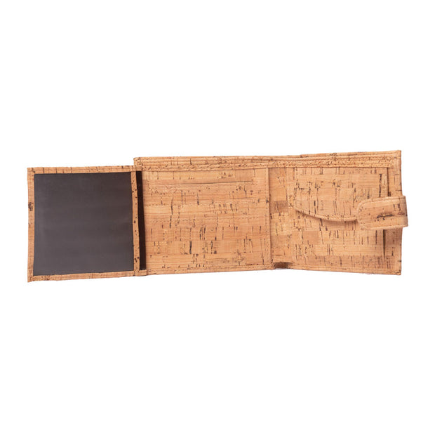 Men's Cork Wallet | Checked Oak