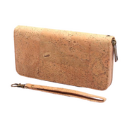 Cork Wallet with a strap to make a wristlet