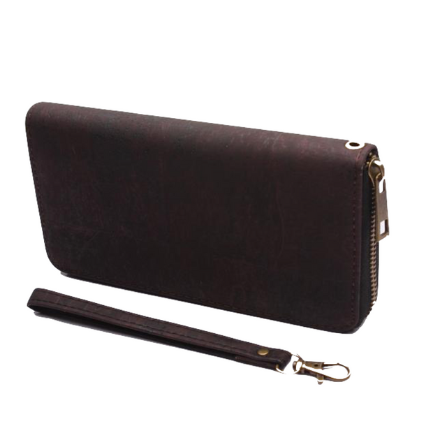 FOReT Tilia Zipped Cork Wristlet - Brown - FOReT
