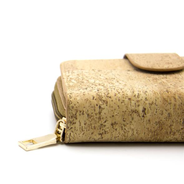 Ivy Trifold small zip Cork Wallet