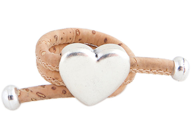 Ring with Heart Charms and Cork