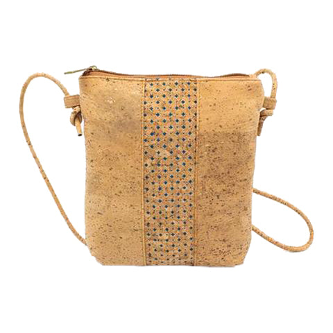 FOReT Vegan and Sustainable Natural Cross Body Bag made from Cork