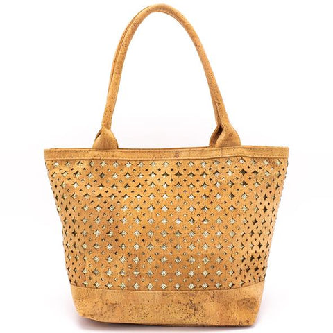 FOReT Natural | Sustainable | Earth Friendly | Vegan handbags made from Cork | Silver Sequences