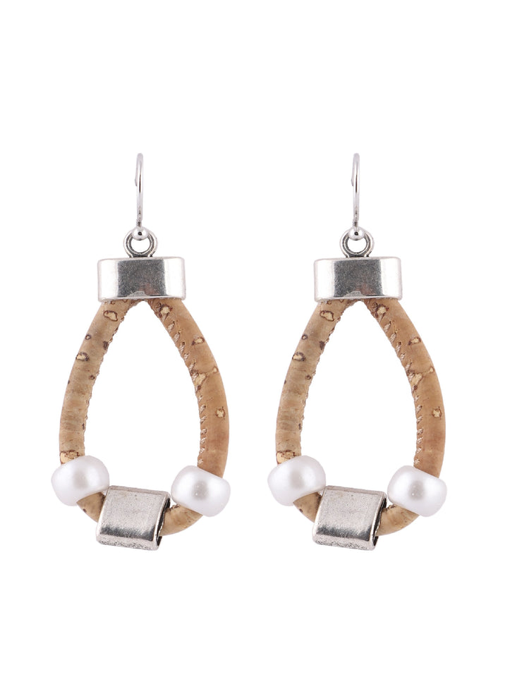 Moon Flower Cork earring - FOReT