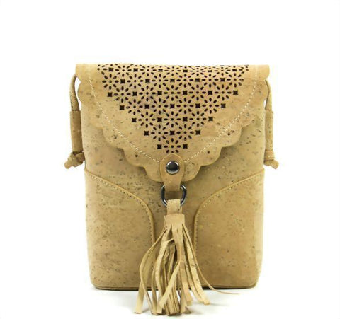 FOReT Sustainable | Vegan and Natural Cross Body Bag made from Cork