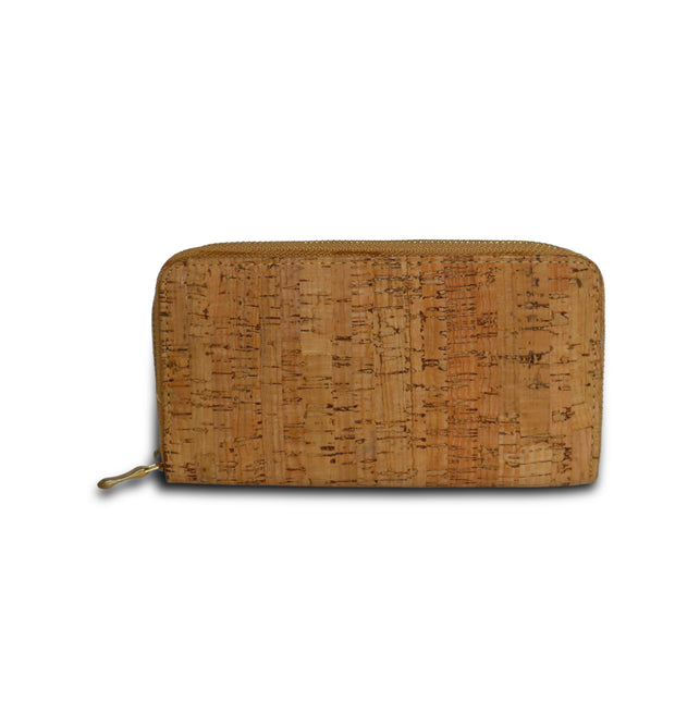 Cork Zipped Wristlet Tilia a in Beige