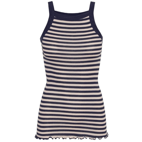 Silky Daze - Navy Beige Stripes