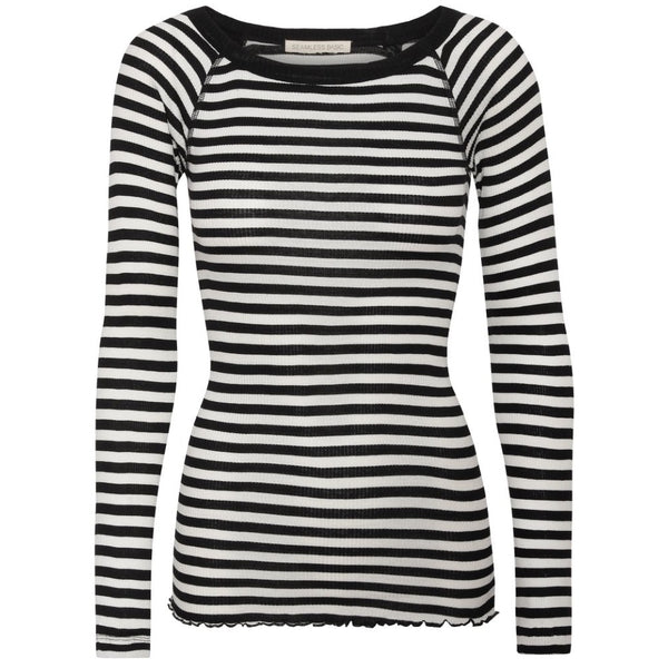 Silky Jade - Black Off-white stripes