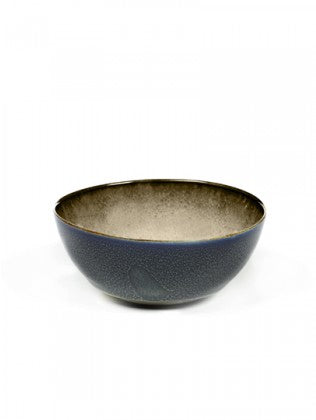 BOWL S D10,8 H5 MISTY GREY / DARK BLUE