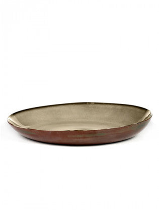 SERVING TRAY D35,5 H6 MISTY / RUST