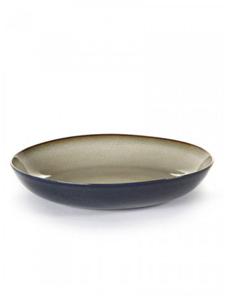 PASTA PLATE D23,5 H4,5 CM MISTY GREY/DARK BLUE