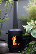 Stofey- Outdoor Fireplace Black