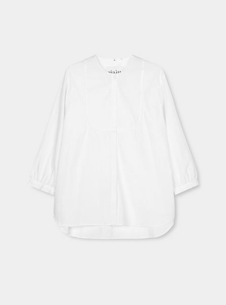 ANGELA SHIRT SEERSUCKER - white