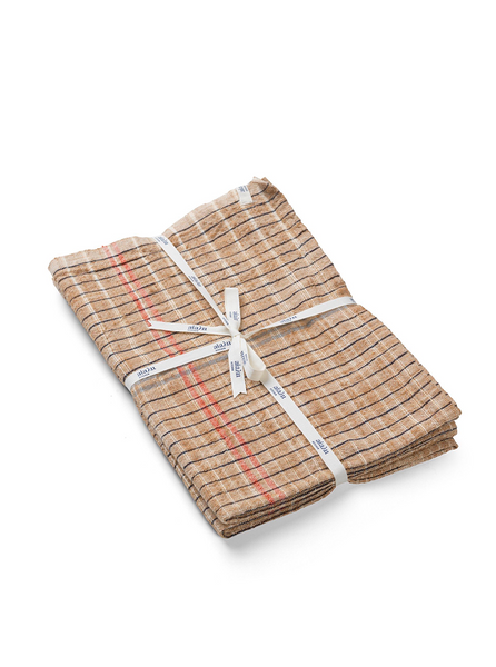 Dish towel Khadi - Tabacco (2 pcs in a pack)