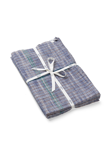 Dish towel Khadi - Mix blue (2 pcs in a pack)