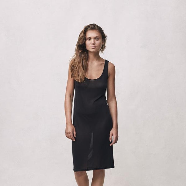 Sporty Slip Dress - Black