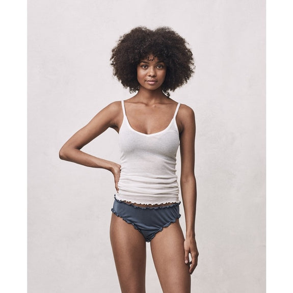 Cotton Spaghetti Strap top - Off White