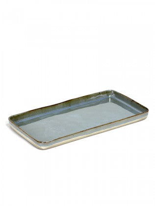 PLATE LARGE RECTANGULAR 37,3X18 H2,4 CM SMOKEY BLUE