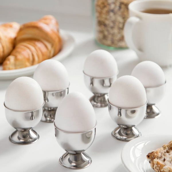Egg cup on foot in steel