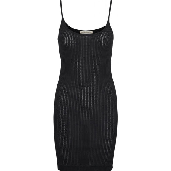Elena slip dress silk - Black