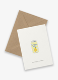 Greeting card Soda can (when life gives you lemons)