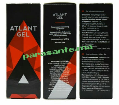 ATLANT GEL 50 ml plus fort que titan gel Pour augmenter la taille du pénis ET FORCE sexuels NEW 2018 made in russia