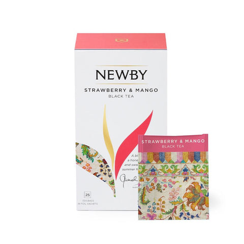 Strawberry & Mango teposer Newby - KAFFAbutikk