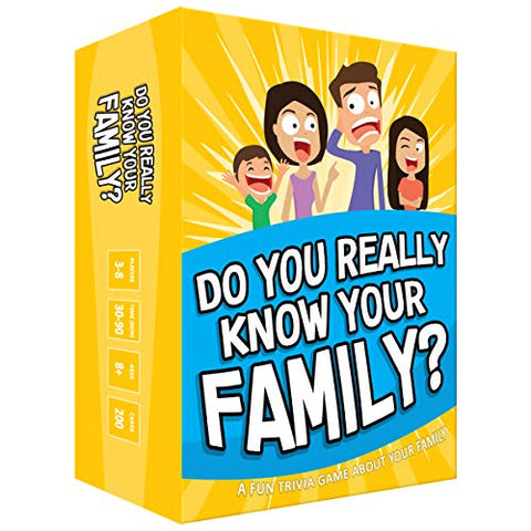 Image of Do You Really Know Your Family? A Fun Family Game Filled with Conversation Starters and Challenges - Great for Kids, Teens and Adults