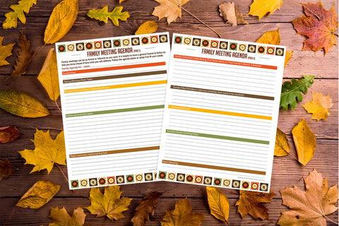 Fall Family Meeting Planner - Printable