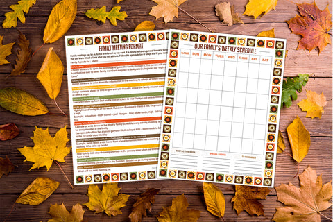 Image of Fall Family Meeting Planner - Printable
