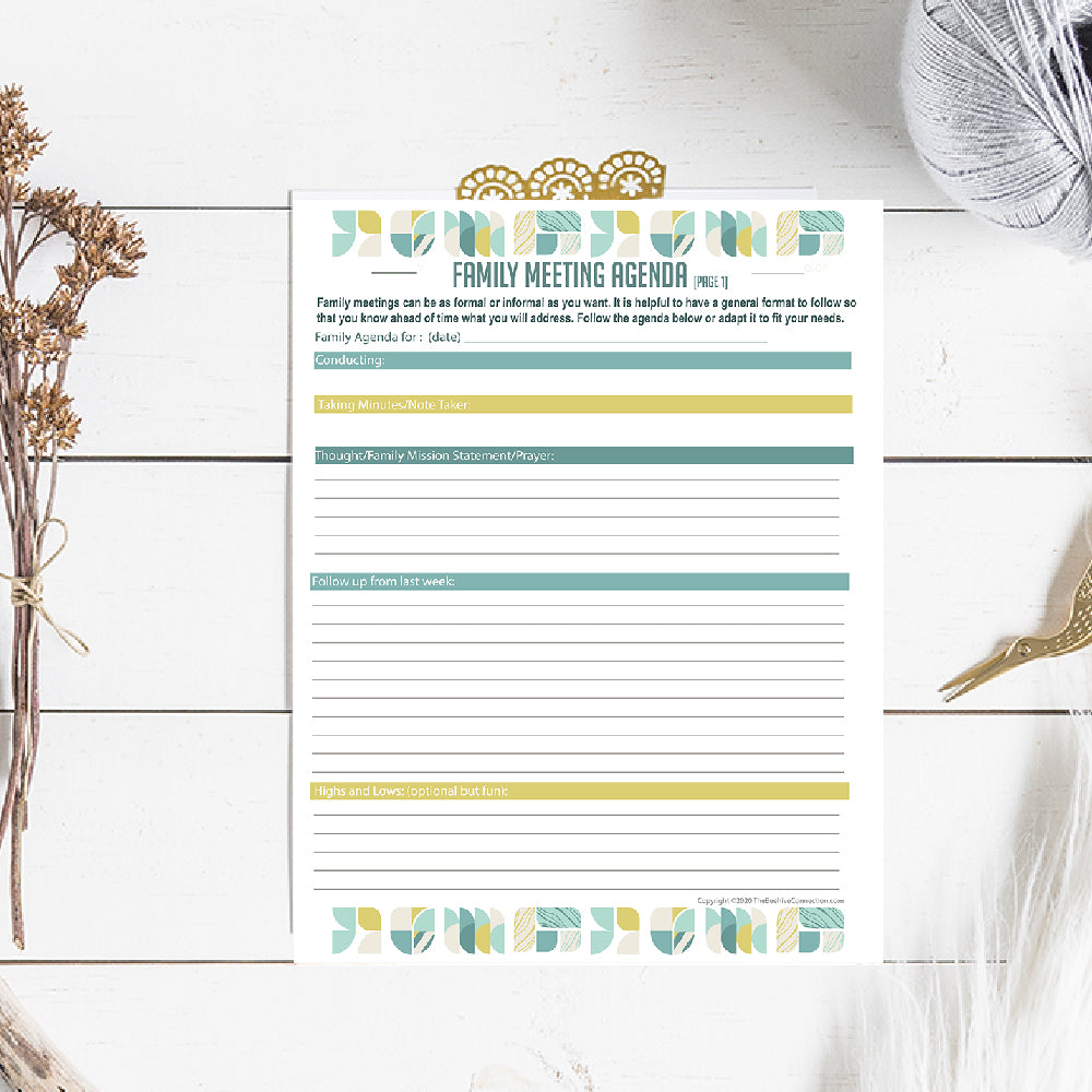 Exclusive Family Meeting Planner Bundle