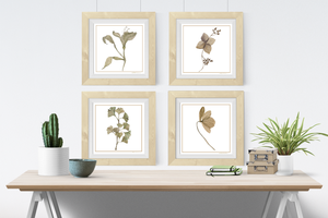 6 Watercolor Wall Art Printables 10X10 Inch