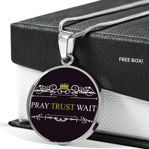 Image of Pray Trust Wait Necklace
